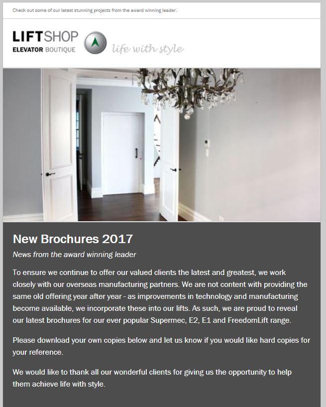 New Brochures – 2017